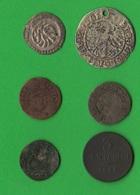 Lotto 6 Monete Italia Germania Non Classificate Silver Bronze  Dinar Pfennig - Monnaies Antiques