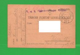 Militärposten X Wien 1918 Tabori Postai Levelezolap Feldpostkarte - Documents