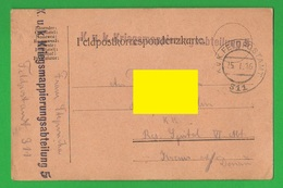 K.U.K Militärposten Korrespondenz 1916 Feldpostkarte - Documents