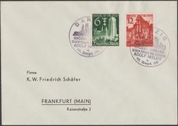 Allemagne 1939 Y&T 652/3. Danzig Sur Lettre, Oblitération 2ème Jour (FDC 400 €). Visite De Hitler à Gdansk - 2. Weltkrieg