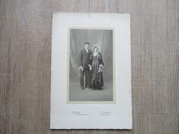 PHOTO ANCIENNE COUPLE MARIES COIFFE SAINT NAZAIRE 44  COSTUMES - Personnes Anonymes