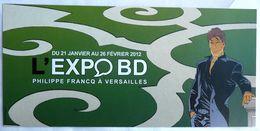 CARTE D'INVITATION FRANCQ EXPOSITION Largo Winch BD VERSAILLES 2012 - Livres, BD, Revues