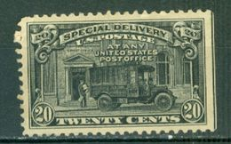 United States Special Delivery 20c Truck With SE Unused Gum Damage A04s - Special Delivery, Registration & Certified