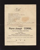Pierre Cornil Meunier Industriel Conseiller Communal Chatelet 1901 Arbre Généalogique Au Dos - Obituary Notices