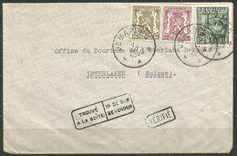 1948 - COB N° 768+420+711oblitérés (o) Sur Lettre- TROUVE à La BOITE Et VERIFIE - JEMAPPES - België
