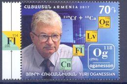 2017. Armenia, Y.Oganessian, Scientist-Chemist, 1v, Mint/** - Arménie