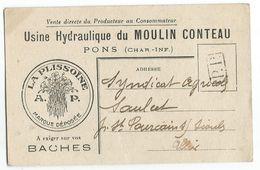 PONS CARTE PRIVEE USINE HYDRAULIQUE DU MOULIN CONTEAU - Pons