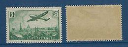 """FR Aerien YT 8 (PA) """" Avion Survolant Paris, 85c. Vert Foncé """" 1936 Neuf** - 1927-1959 Mint/hinged"""