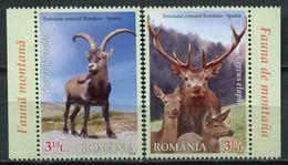 Romania 2012 Rumania / Fauna Mammals Goats Joint Issue Spain MNH Mamíferos Cabras Emisión Conjunta España / Cu6619  10 - Sellos
