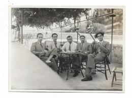 FOTO GRUPPO DI GIOVANI ANNI 40 CIRCA SU CARTA VELOX  - MISURE CM.12X8,5 - Anonyme Personen