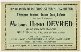 """AMIENS SOMME Ed Caron Publitité Maisons DEVRED Henri Au Grand Bon Marché : """" Statue De Pierre L'Ermite Dieu Le Veut """" - Amiens"""
