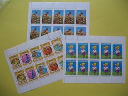 Année   3 Feuilles De 10   Neuf** 1974-1975  /  1975-1976  / 1976-1977 - Commemorative Labels