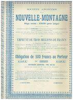 Obligation Uncirculed - Sté Anonyme De La Nouvelle Montagne - Titre De 1901 - Industrie