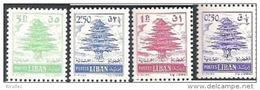 4 MNH Complete Set Cedar Tree Cedars Lebanon Liban 1959-1960 - Lebanon