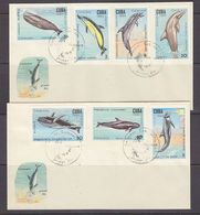 Cuba 1984 Whales & Dolphins 7v 2 FDC (37425) - FDC