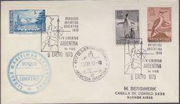 Argentina 1973 Cruceros Antartida Argentina Ca Esperanza Cover (37426) - Poolshepen & Ijsbrekers