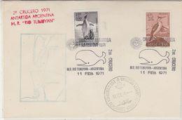 Argentina 1971 Crucero Antartida Argentina Ca Almirante Brown Cover (37427) - Poolshepen & Ijsbrekers