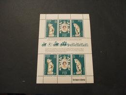 FIJI - BF 1978 INCORONAZIONE/ANIMALI, 3 + 3 Valori In Minifoglio - NUOV(++) - Fiji (1970-...)