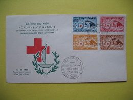 FDC Année  1963  Viêt-Nam Sud   N° 222 à 225   Croix Rouge - Viêt-Nam