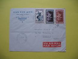 Lettre Année  1953  Pour La France Oblitération  Phnom-Penh  RP - Cambodia