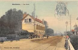 60 - OISE / Montataire - 603750 - La Gare - Carte Toilée Et Colorisée - Montataire