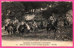 Grandes Manoeuvres D'Automne - Peloton De Chasseurs à Cheval Surveillant Une Position - ND PHOT - 1909 - Manoeuvres