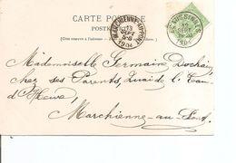 Timbres Sur Timbres ( CP De Belgique De 1904 De Ecaussines Vers Marchienne-au-Pont à Voir) - Stamps On Stamps