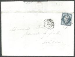 Moselle  - Lettre N° 22 Oblitéré GC 3305 Sarreguemines  Pour Sarre Union 1866 - 1849-1876: Période Classique
