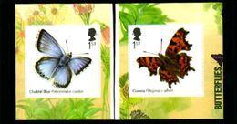 GREAT BRITAIN - 2013  BUTTERFLIES  S/A  SET  EX BOOKLET  MINT NH - 1952-.... (Elisabetta II)