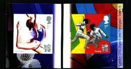 GREAT BRITAIN - 2011  OLYMPIC GAMES  6  S/A   EX BOOKLET  MINT NH - 1952-.... (Elisabetta II)