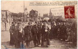 PLOUMANAC'H - Pardon De N.D. De La Clarté - Jeunes Mariées Portant La Statue De Ste Anne - Cachet Daguin     (102158) - Ploumanac'h