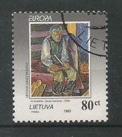 Litauen / Lietuva  1993  Mi.Nr. 544 , EUROPA CEPT - Zeitgenössische Kunst - Gestempelt / Used / (o) - Lithuania