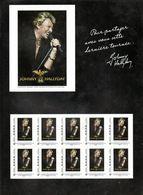 SUPERBE Collector JOHNNY HALLIDAY De 2009 Tour 66 LUXE NON PLIÉ - Bloc Timbres Neuf - Bloc De Notas & Hojas