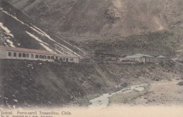 Juncal Valley Chile, Trasandino Railroad Buildings, C1900s/10s Vintage Postcard - Chile