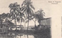 Guayaquil Ecuador, Estero De Cangrejito Estuary, C1900s Vintage Postcard - Ecuador