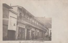 Hotel Jardin, Street Scene, Unknown Latin America City, C1900s/10s Vintage Real Photo Postcard - Hotels & Restaurants
