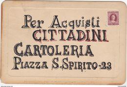 CARTONCINO PUBBLICITARIO DELLA EDITRICE - CARTOLERIA CITTADINI BERGAMO PIAZZA S. SPIRITO - Advertising (Porcelain) Signs