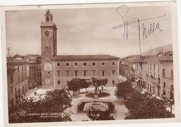 617 L' AQUILA DEGLI ABRUZZI PIAZZA PALAZZO 1936 - L'Aquila