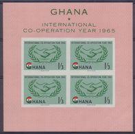 GHANA :1965: Y.BF16 Dentelled/neuf/MNH : ## INTERNATIONAL CO-OPERATION YEAR ## U.N.O.,HAND, - Ghana (1957-...)