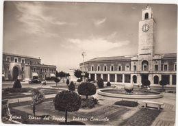 619  LATINA PIAZZA DEL POPOLO E PALAZZO COMUNALE 1955 - Latina
