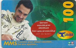 Greenland - Tusass - Sportman, GSM Refill, 100kr. Exp. 05.10.2010, Used - Groenlandia