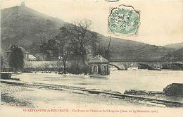 C-18-560 : VILLEFRANCHE DE ROUERGUE. CRUE DE DECEMBRE 1906 - Villefranche De Rouergue