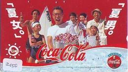 Télécarte Japon *  330-55346 * COCA COLA   (2050)  TELEFONKARTE * PHONECARD JAPAN *  COKE * - Werbung