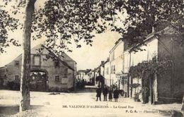 81)  VALENCE   D'   ALBIGEOIS    -  La  Grand   Rue - Valence D'Albigeois
