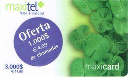 PHONECARDS-PORTUGAL ---  PRÉ PAID---MAXITEL--3.000$00+OFERTA DE 1.000$00-- THIN PLASTIC - Portugal