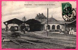Roanne - Vue Intérieure De La Gare - Aiguillage - Mme LALAY BESACIER - 1909 - Roanne