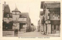 C-18-568 : VILLENEUVE D'AVEYRON . FAUBOURG SAINT-ROCH - France