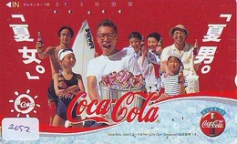 Télécarte Japon *  330-55346 * COCA COLA   (2052)  TELEFONKARTE * PHONECARD JAPAN *  COKE * - Advertising
