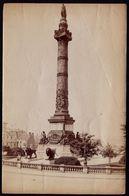 GRANDE PHOTO ALBUMINEE VERS 1880 - ** COLONNE DU CONGRES ** BRUXELLES - Photo Dietrich ( Montagne De La Cour ) - Oud (voor 1900)