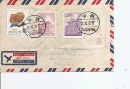 Taiwan-Formose ( Lettre Par Avion De 1961 De Taichung Vers La Belgique à Voir) - 1945-... República De China